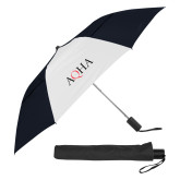 42 Inch Slim Stick Black/White Vented Umbrella-AQHA