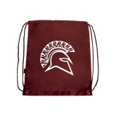 Maroon Drawstring Backpack-Official Logo