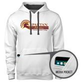 Contemporary Sofspun White Hoodie-Spartan Athletics