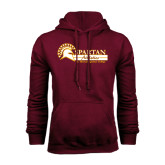 Maroon Fleece Hoodie-Spartan Athletics