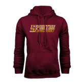 Maroon Fleece Hoodie-Spartan Athletics Word Mark