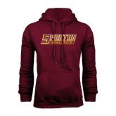 Maroon Fleece Hoodie-Spartan Athletics Word Mark