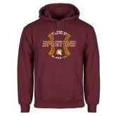 Maroon Fleece Hoodie-Spartans Baseball w/ Seams
