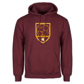 Maroon Fleece Hoodie-Spartans Soccer Shield