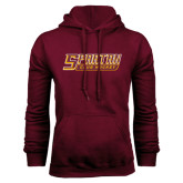 Maroon Fleece Hoodie-Club Hockey