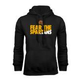 Black Fleece Hoodie-Fear The Spartans