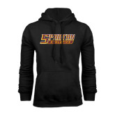 Black Fleece Hoodie-Spartan Athletics Word Mark