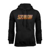 Black Fleece Hoodie-Spartan Athletics Word Mark