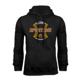 Black Fleece Hoodie-Spartans Baseball w/ Seams