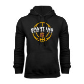 Black Fleece Hoodie-Spartans Basketball Arched w/ Ball