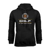 Black Fleece Hoodie-St. Thomas Aquinas Golf Stacked