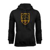 Black Fleece Hoodie-Spartans Soccer Shield