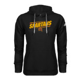 Adidas Climawarm Black Team Issue Hoodie-Spartans Angled