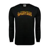 Black Long Sleeve TShirt-St. Thomas Aquinas Spartans Arched