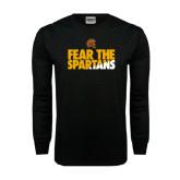 Black Long Sleeve TShirt-Fear The Spartans