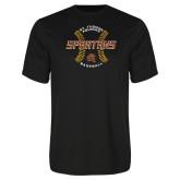 Performance Black Tee-Spartans Baseball w/ Seams