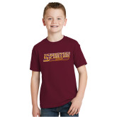Youth Maroon T Shirt-Golf