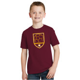 Youth Maroon T Shirt-Spartans Soccer Shield