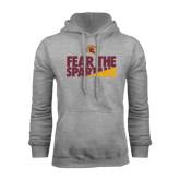 Grey Fleece Hoodie-Fear The Spartans