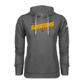Adidas Climawarm Charcoal Team Issue Hoodie-Spartans Angled