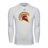 Under Armour White Long Sleeve Tech Tee-Official Logo