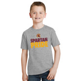 Youth Grey T-Shirt-Spartan Pride
