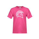 Youth Fuchsia T Shirt-Official Logo
