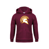 Youth Maroon Fleece Hoodie-Official Logo