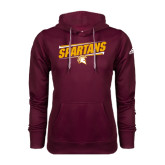 Adidas Climawarm Maroon Team Issue Hoodie-Spartans Angled