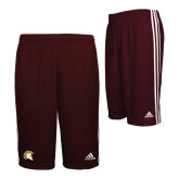 Adidas Climalite Maroon Practice Short-Official Logo