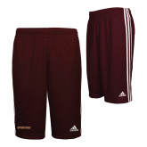 Adidas Climalite Maroon Practice Short-Spartans Word Mark