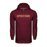 Under Armour Maroon Performance Sweats Team Hoodie-Spartans Word Mark