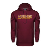 Under Armour Maroon Performance Sweats Team Hoodie-Baseball