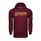Under Armour Maroon Performance Sweats Team Hoodie-Golf