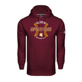 Under Armour Maroon Performance Sweats Team Hoodie-Spartans Baseball w/ Seams