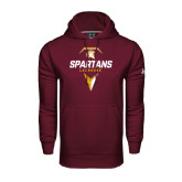 Under Armour Maroon Performance Sweats Team Hoodie-Spartans Geometric Lacrosse Head