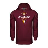 Under Armour Maroon Performance Sweats Team Hoodie-Spartans Geometric Lacrosse Head
