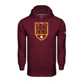 Under Armour Maroon Performance Sweats Team Hoodie-Spartans Soccer Shield