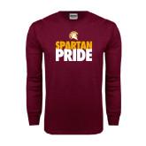 Maroon Long Sleeve T Shirt-Spartan Pride