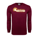 Maroon Long Sleeve T Shirt-Spartan Athletics