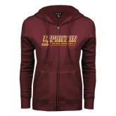 ENZA Ladies Maroon Fleece Full Zip Hoodie-Club Hockey