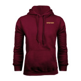 Maroon Fleece Hoodie-Spartans Word Mark