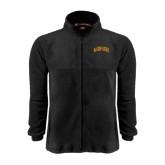 Fleece Full Zip Black Jacket-St. Thomas Aquinas Spartans Arched