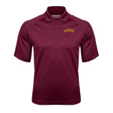 Maroon Textured Saddle Shoulder Polo-St. Thomas Aquinas Spartans Arched
