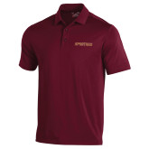 Under Armour Maroon Performance Polo-Spartans Word Mark