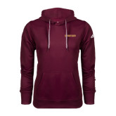 Adidas Climawarm Maroon Team Issue Hoodie-Spartans Word Mark