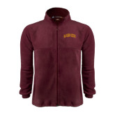 Fleece Full Zip Maroon Jacket-St. Thomas Aquinas Spartans Arched