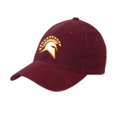 Maroon OttoFlex Unstructured Low Profile Hat-Official Logo
