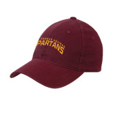 Maroon Flexfit Mid Profile Hat-St. Thomas Aquinas Spartans Arched