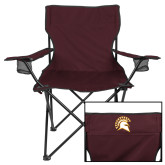Deluxe Maroon Captains Chair-Official Logo